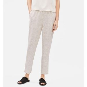 Eileen Fisher Morse Code Viscose Slouchy Pants